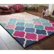 Niebiesko-różowy dywan z wełny Flair Rugs Rosella, 120x170 cm