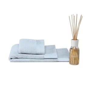 Zestaw ręcznik, dywanik i dyfuzor Pure Blue