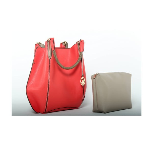 Torebka Beverly Hills Polo Club 447 - Red/Beige
