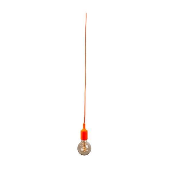 Materiałowy kabel z oprawką 1,5 m - pomarańczowy