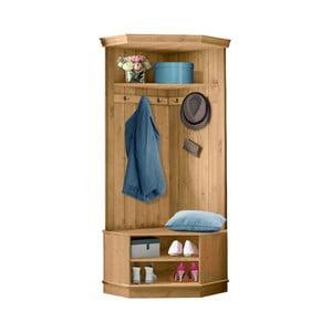 Garderoba narożna z drewna sosnowego do przedpokoju Støraa Monroe