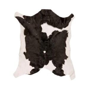 Czarno-biała skóra cielęca Black Spotted, 80x70cm