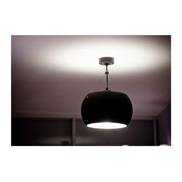 Lampa MOMO, black matte opal/black