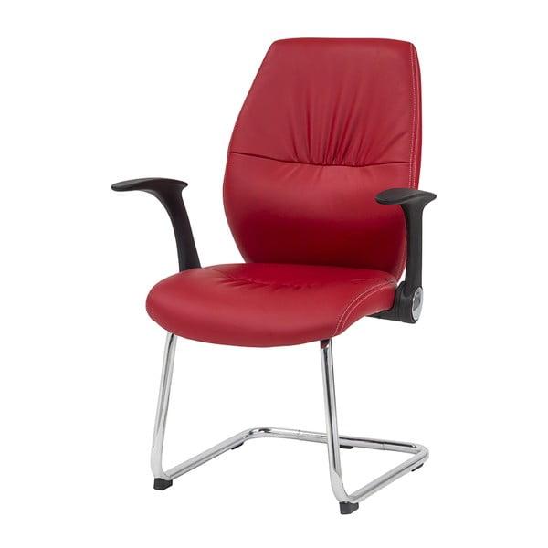 Krzesło biurowe Icaro, czerwone