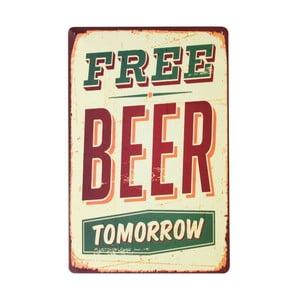 Tablica Free Beer, 20x30 cm