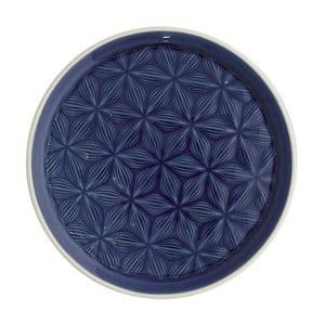Granatowy talerz ceramiczny Green Gate Kallia, średnica 20,5 cm