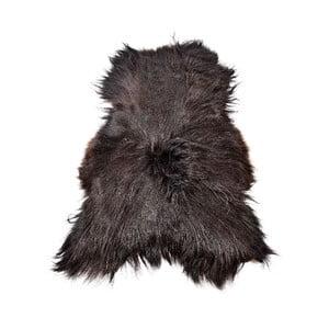 Ciemna skóra owcza z długim włosiem, 110x60 cm