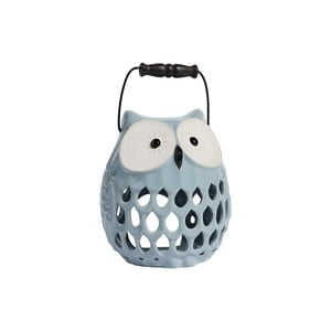 Świecznik ceramiczny Owl, jasnoniebieski