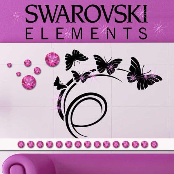 Zestaw 15 elektrostatycznych kryształków Swarovski Fanastick Fuchsia