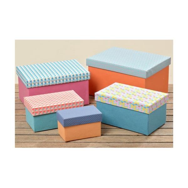 Komplet 5 pudełek Teno