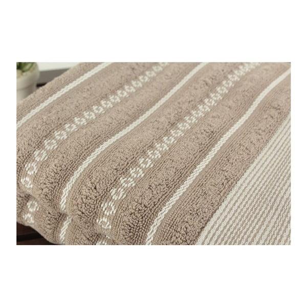 Zestaw 2 ręczników Patricia Bombeli Grey, 50x90 cm