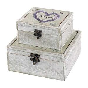 Zestaw pudełek Provence, 2 sztuki