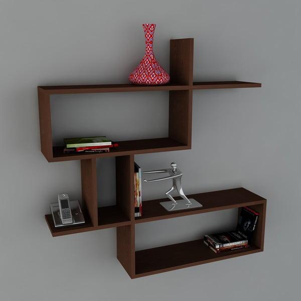 Półka Montera Book Wenge, 22x100x107,2 cm