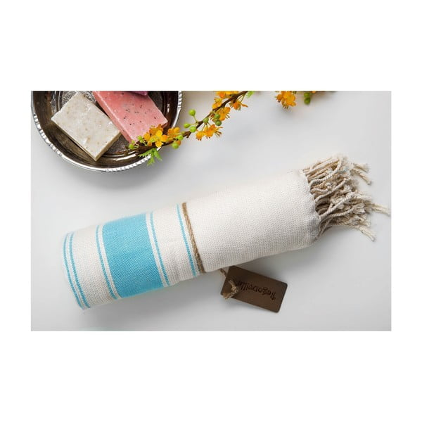 Ręcznik hamam Bambu Loincloth Light Blue, 100x180 cm