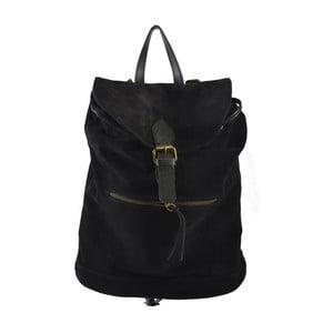 Czarny skórzany plecak Chicca Borse Georgia