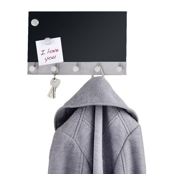 Magnetyczny wieszak na płaszcze z tablicą do pisania Black Long