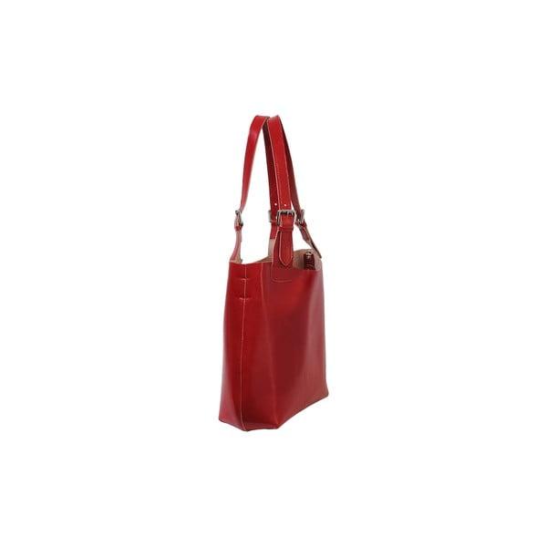 Czerwona torebka skórzana Andrea Cardone Stefano