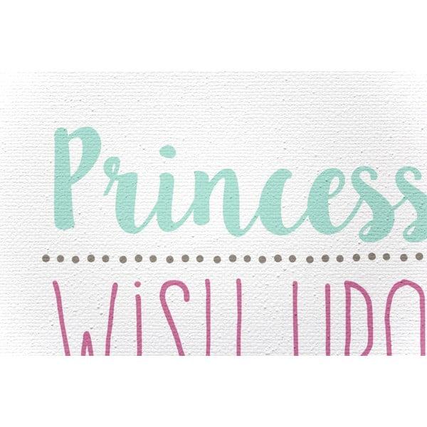 Obraz na płótnie Princess Rules, 40x60 cm