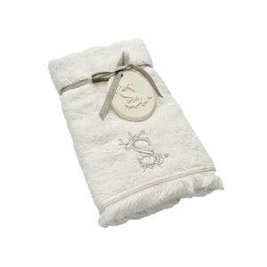Ręcznik z inicjałem S, 50x90 cm