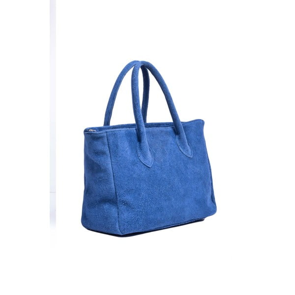 Skórzana torebka Shanna, niebieska