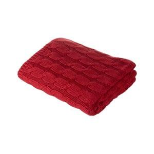 Czerwony koc Parlane Uma, 150x125 cm