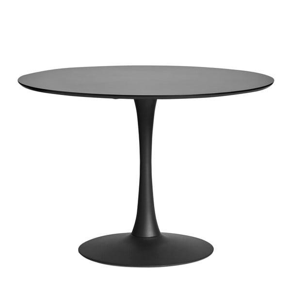 Okragły czarny stół do jadalni Marckeric Oda, ⌀ 110 cm