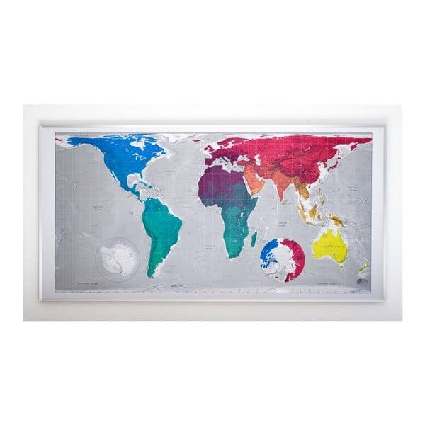 Mapa świata Colored Huge The Future Mapping Company Future Map, 196x100 cm