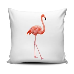 Biała poduszka Home de Bleu Flamingo, 43x43cm