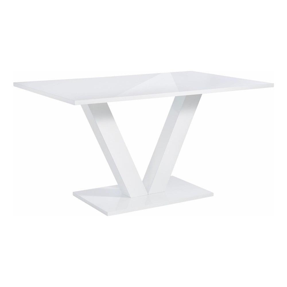 Biały stół z połyskiem Støraa Allen, 90x140 cm