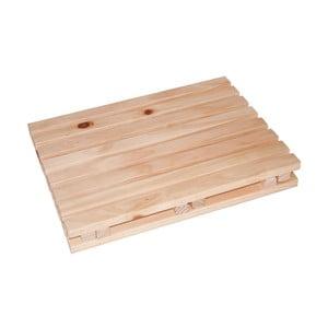 Drewniany podnóżek łazienkowy