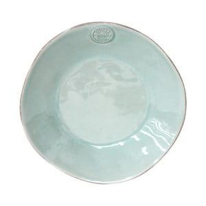 Turkusowy ceramiczny talerz głęboki Ego Dekor Nova,Ø25 cm