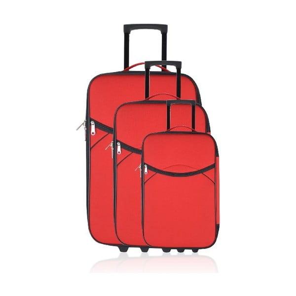 Zestaw 3 walizek podróżnych Classic Red