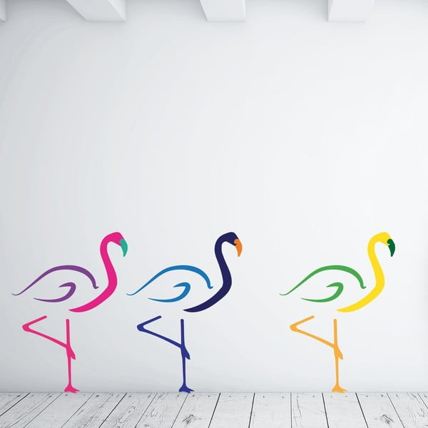 Naklejka ścienna Flamingos