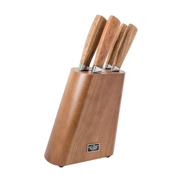 Zestaw 6 noży w drewnianym bloku Krauff