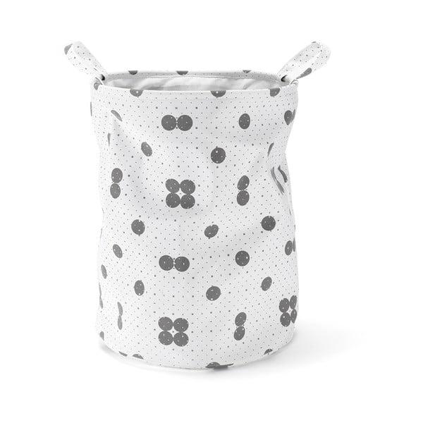 Kosz - organizer Dots Grey, 50 cm