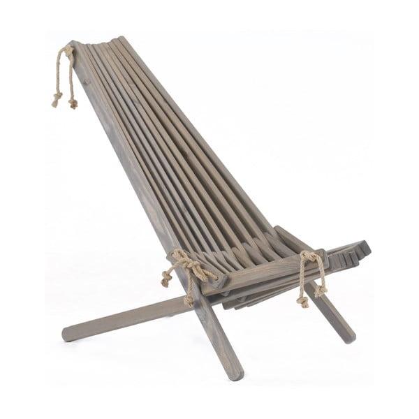 Leżak ekologiczny z szarego drewna sosnowego EcoFurn EcoChair