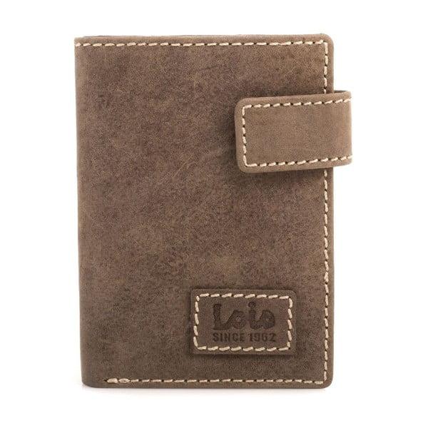 Skórzany portfel Lois Brown, 8,5x10,5 cm