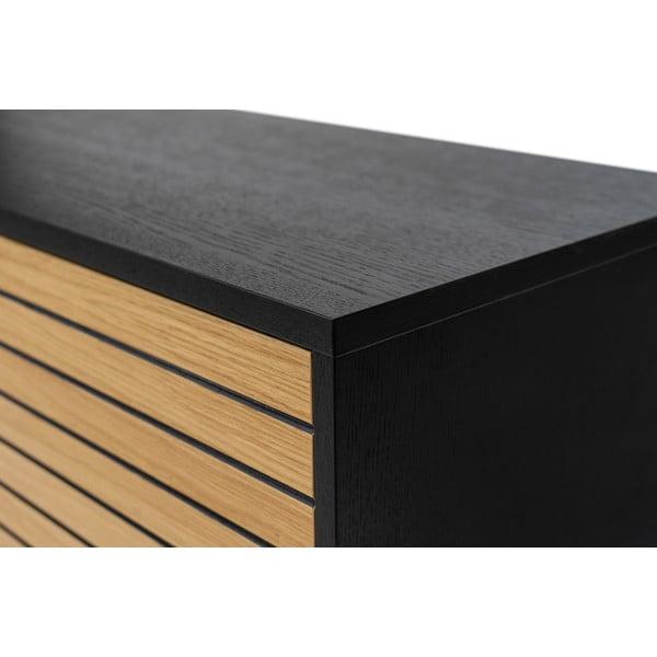Szafka pod TV z drewna dębowego Woodman Stripe