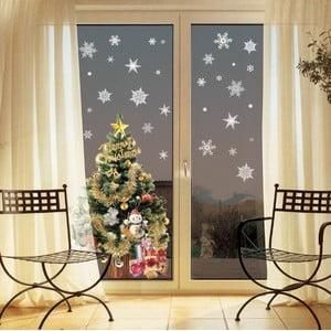 Zestaw 30 naklejek świątecznych Fanastick Christmas White Flakes