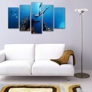 Pięcioczęściowy obraz Pod Wodą