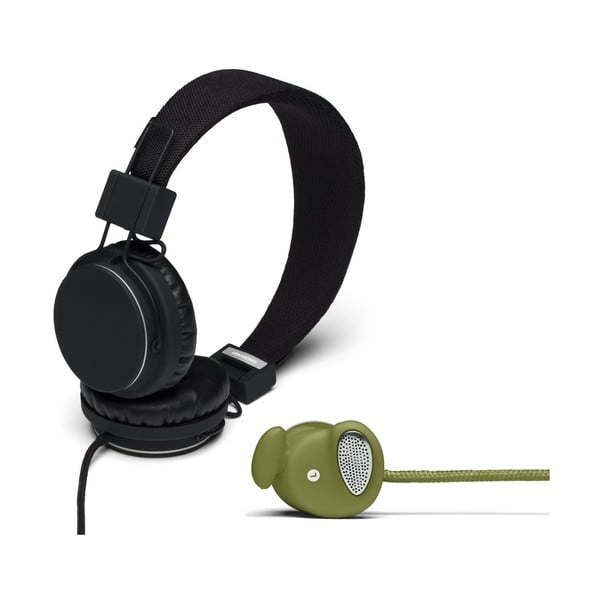 Słuchawki Plattan Black + słuchawki Medis Olive GRATIS
