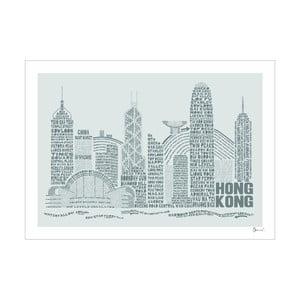 Plakat Hong Kong Grey&Grey, 50x70 cm