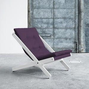 Fotel składany Karup Boogie White/Purple
