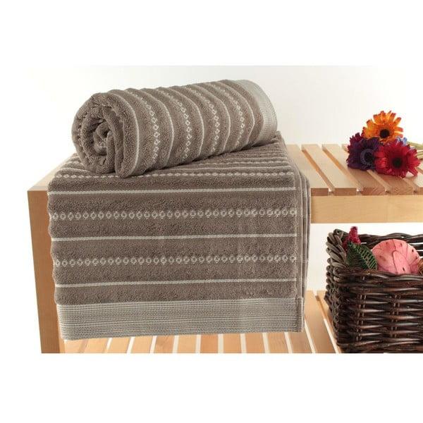 Zestaw 2 ręczników Ginny Brown, 90x150 cm