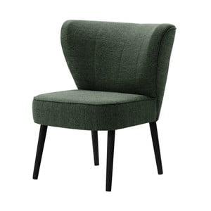 Ciemnozielony fotel z czarnymi nogami My Pop Design Adami