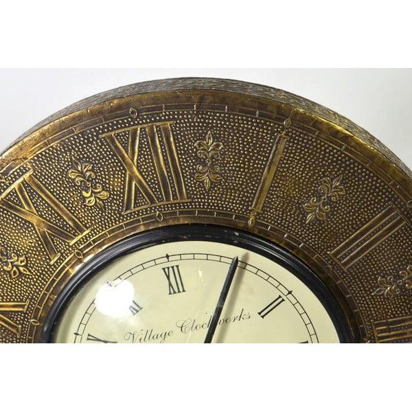 Zegar ścienny z kutego metalu Tripura, 29 cm
