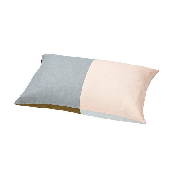 Poduszka z pierza kaczego Domino Grey/Nude