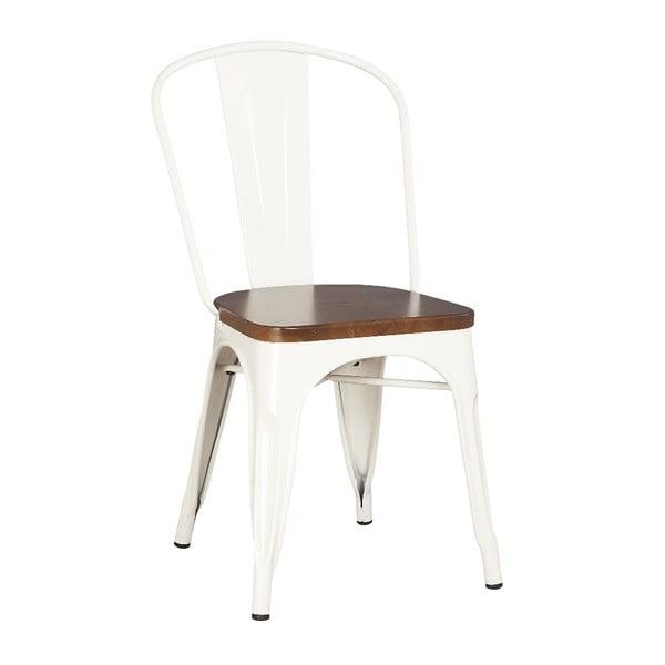 Metalowe krzesło Moycor White Brushed