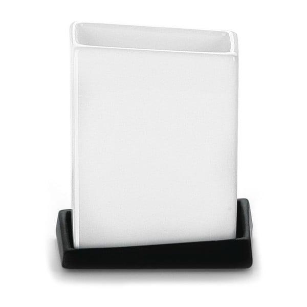 Pojemnik White&Black Glass, 10x12x7 cm