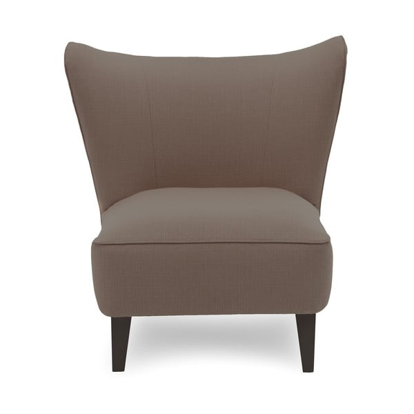 Beżowy fotel z ciemnymi nogami Vivonita Sandy